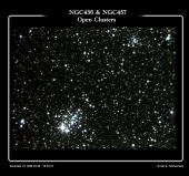 NGC436 & NGC457 - Open Clusters in Cassiopeia